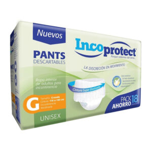 Pañales Adulto Incoprotect Pants Talle G x18
